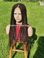 Dark Brown Braided Wig, Lace Closure Wig, Cornrows Braids, Box Braids Wig,