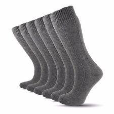 Turkish Pure Naturel Merino Wool Winter Grey Men Thick Socks- 6 Pairs Pack