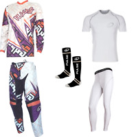 PULSE MOJO ORANGE MOTOCROSS MX ENDURO QUAD BMX MTB KIT + BASE LAYERS & SOCKS