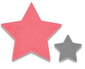 Sizzix Mini Framelits TINY STARS Set of 2 Thinlits Dies #661782