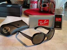 NEW RAY BAN RB4191 ( 601 / 71 ) 57 WOMEN'S POLISHED BLACK / GREEN