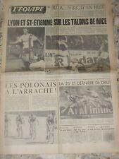 Journal L EQUIPE 08/1975 DERBY OL LYON CHIESA BIANCHI REIMS OM  + 4 EME JOURNEE