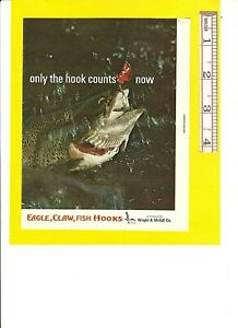 Vintage Original 1964 WRIGHT & McGILL EAGLE CLAW HOOKS 8-page Advertisement