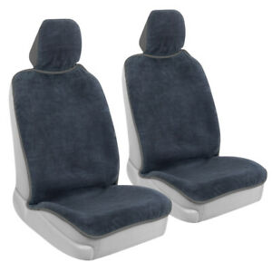 2-Pack GoFit Waterproof Towel Car Seat Cover - Front Seat with Gray Trim