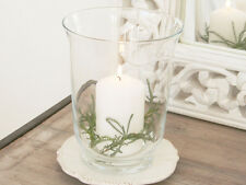 FRENCH GLASS SHABBY CHIC HURRICANE LAMP CANDLE HOLDER VOTIVE LANTERN WEDDING