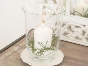 FRENCH GLASS HURRICANE LAMP CANDLE HOLDER VOTIVE LANTERN WEDDING VALENTINE CHIC