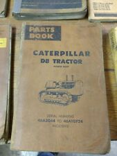 Caterpillar Cat D8K Tractor power Shift  Parts Book