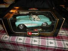 BBurago Diecast Metal1/18 Scale 1957 Chevrolet Corvette MIB