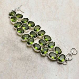 Peridot Gemstone Handmade Big Bracelet Jewelry 48 Gms LBB 5665