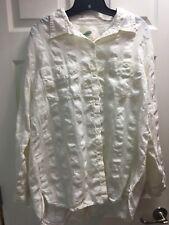Nurture Size XL Natural White Button Down w Pockets Linen & Cotton Shirt