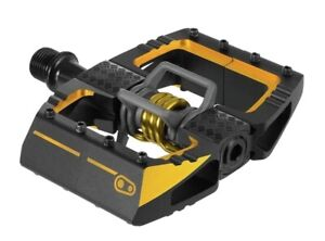 Crank Brothers Mallet DH 11 Clipless Downhill MTB Bike Pedals - Black & Gold