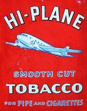 "TIN SIGN ""Hi-Plane Tobacco"" Nicotine Deco Garage Wall Decor"
