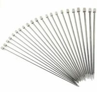 KNITTING NEEDLES SINGLE POINT 35 & 25cm 2mm 4mm 5mm 6mm 8mm Stainless Steel