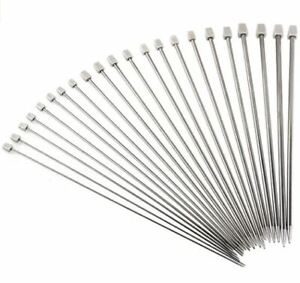 KNITTING NEEDLES SINGLE POINT 35 & 25cm 2mm 4mm 5mm 6mm 8mm Stainless Steel