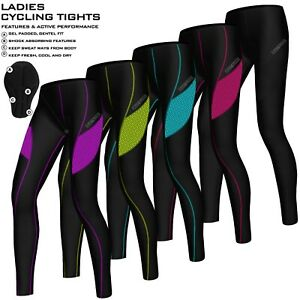 Ladies Compression Cycling Tights Padded Leggings Cycle Womens Tights / Trousers