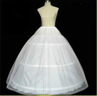 New White Petticoats 3 Hoop 6 Hoop Wedding Gown Crinoline Petticoat Skirt Slip