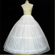 White Petticoats 3 Hoop 6 Hoop Wedding Gown Crinoline Petticoat Skirt Slip New