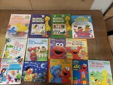 Lot of 25 Sesame Street Elmo Big Bird Ernie Hard Softcover Kid Children Book KC6