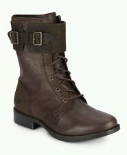 UGG Australia Maaverick Lodge Leather Combat Boots Women's US 8.5 NEW 1007672