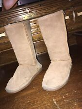 Bearpaw Womens Winter Snow Boots Brown Suede Size 7 Us