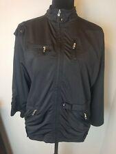 JAMIE Sadock women's Jet Black full zip Golf Jacket size Medium-E54