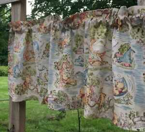 Handcrafted Winnie The Pooh Baby Nursery Beige Curtain Valance OR Tier Panel