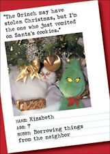 Vomited on Cookie Bad Cat Funny Humorous Nobleworks Christmas Card