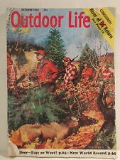 Outdoor Life Magazine October 1956 Deer Hunters John Floherty Jr.