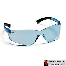 PYRAMEX ZTEK SAFETY GLASSES INFINITY BLUE LENS WORK EYEWEAR S2560S Z87+ (1 PR)