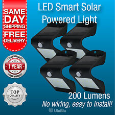 4x Solar Powered Outdoor Lights LED Waterproof Motion Sensor Path Wall Light