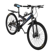 "21 Speed MTB 26"" Front Suspension Mountain Bike Bicycle Cycling Disc Brakes"