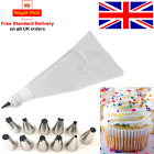 12Pcs STAINLESS STEEL/Set Icing Bags /Decoration/Nozzel Cream/Pastry/CakePiping