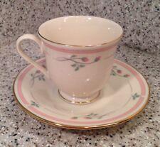 Lenox ROSE MANOR Pattern PEDESTAL BASE CUP & SAUCER Excellent