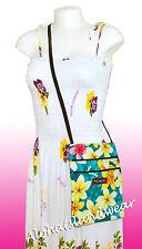Hawaiian print cross body side bag - 301Teal