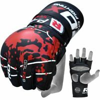 RDX MMA Gloves Grappling Martial Arts Boxing Training Fitness Cage Fight Punch