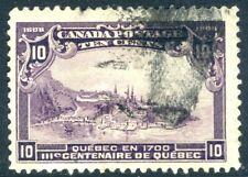 QUEBEC-1908 Tercentenary 10c Violet Sg 193 GOOD USED V19005