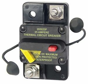Blue Sea Systems 7180 Breaker, 285, Surface Mnt, Dc 25a