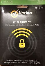 Symantec Norton WIFI Privacy - 1 Device 1 Year - Electronic Download.