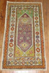Vintage Gorgeous Turkish Anatolian Ushak Oushak Rug Size 2'4''x4'2''