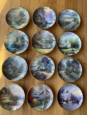 Thomas Kinkade Simpler Times 12 Month Plate Set With Wall Hangers