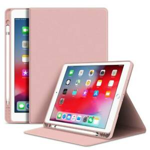 """Smart Leather Pen Slot Case Cover For iPad 7th 8th 10.2"""" 9.7"""" Air 10.9 2020 Mini"""