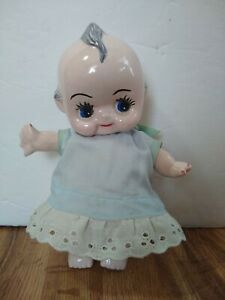 """Vintage Baby Cupie 8"""" Porcelain Ceramic Doll Figurine With Moveable in VGUC. C9"""