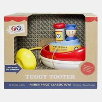 Fisher-Price TUGGY TOOTER Tug Boat Classic Toy FP Captain Life Preserver NEW NIB