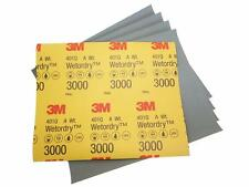 Genuine 3M WET OR DRY 3000 GRIT sandpaper 9