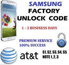 PREMIUM Samsung Galaxy S3 S4 S5 S6 S7 - AT&T FACTORY UNLOCK CODE 100% GUARANTEE