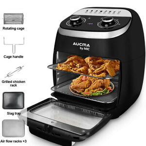 11L Air Fryer Kitchen Oven Healthy Cooker Oil Free Airfryer Low Fat Black 2000W
