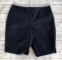 Women's Talbots Navy Blue Bermuda Shorts-Size 8 Petite
