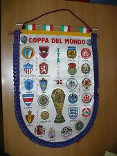 CALCIO GAGLIARDETTO VINTAGE COPPA DEL MONDO ITALIA '90 OTTIMO