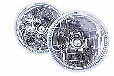 "LAND Rover Defender 7"" - ""l' angolo EYE Halo"" RHD-h4 Lampadine per FARI KIT & - re070hc"