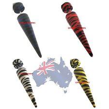 Acrylic Std Piercing body jewellery Fake Zebra Expander Stretcher Cheater plug